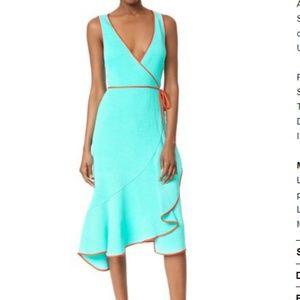 DVF NWT Turquoise Wrap Dress